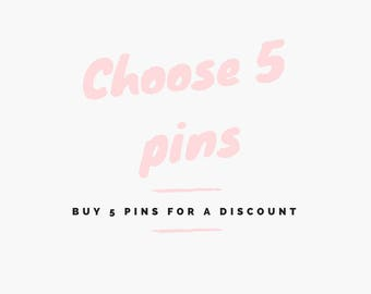 Choose 5 pins for a discount - 1.25 inch Pinback Buttons