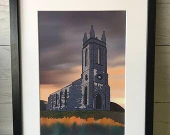 The Old Church, Donegal, Ireland, Errigal, Dunlewey