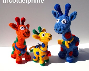 CROCHET pdf tutorial/pattern: giraffe family