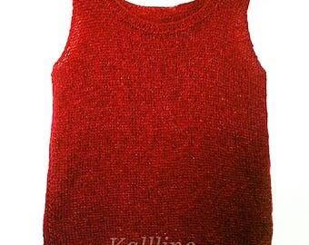 """Model """"Marcel"""" hand knitted Kallline"""