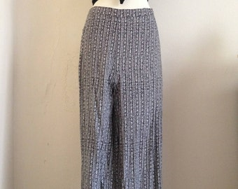 1980's boho highwaisted flared summer pants/ festivel flared pants