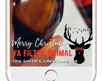Christmas Snapchat Filter, Merry Christmas Custom Geofilter, Snapchat Custom Filter, Snapchat Filter Design, Personalized Snapchat Filter