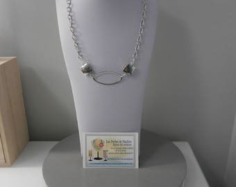 Necklace on chain with sterling silver
