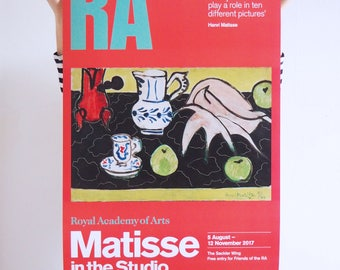 Royal Academy, Matisse in the Studio Exhibition Poster, 2017. Original Vintage Poster.