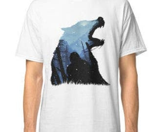 game of thrones jon snow house stark shirt unisex S-3XL