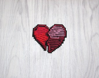 Heart sequin patch