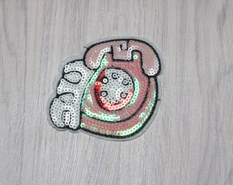 Telephone sequin patch