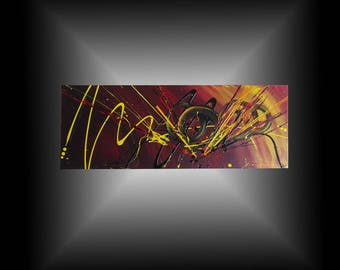 Toile abstraite grand format tableau moderne contemporain for Toile murale grand format