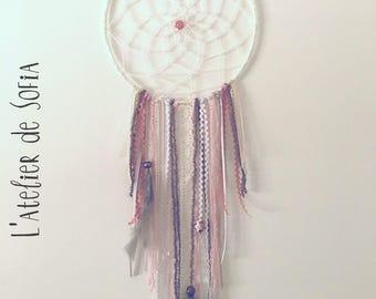 Dream catcher - Dreamcatcher - white/grey/pink