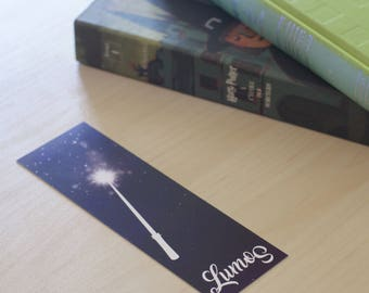 "Bookmark quote / spell Harry Potter - J.K. Rowling - ""Lumos"""