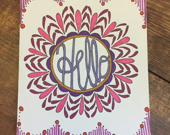 Greeting card with blank inside