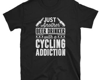 Cycling Shirt Cycler Gift Beer Funny T-Shirt
