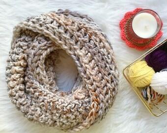 Crochet Infinity Scarf | Neutral Infinity Scarf | Infinity Scarf | Winter Scarf | Chunky Crochet Scarf | Circle Scarf | Long Scarf
