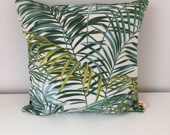 PALM, tropical, jungle Cushion cover