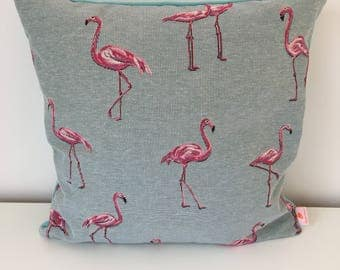 Pillow case BLUE FLAMINGO, Flamingo