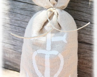 bag of linen filled with organic Lavender buds