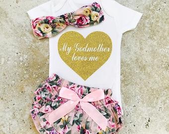 Goddaughter Gifts, Goddaughter Shirts, My Godmother Loves Me, Goddaughter Gifts Baptism, Gift For Goddaughter, My Godmother Loves Me Outfit