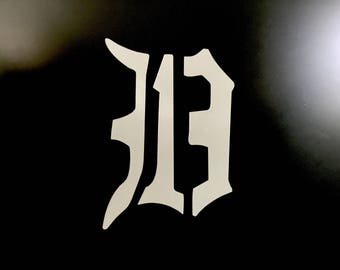 "Detroit 313D 5"" x 3.5"" decal"