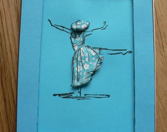 female mannequin card high fashion to the sea