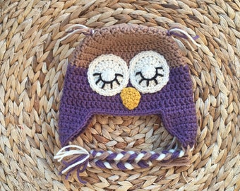 Owl Hat (Purple)