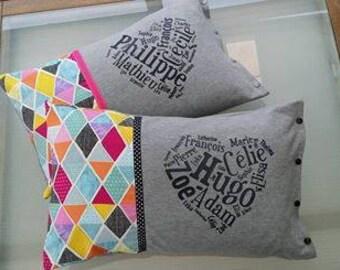 Family pillow cover + pillow