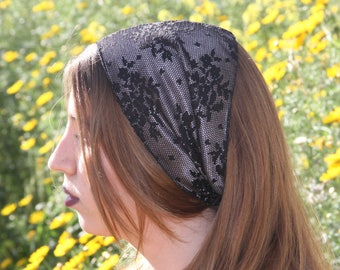 Jewish Hair Covering Satin Headbands For Women Black Headband Jewish Headband For Women Wide Headband For Women Jewish Hair Accessories