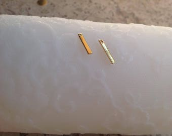 Rectangle pendant 15 x 2 mm gold plated jewelry creations