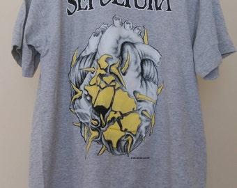 Vintage Sepultura Chaos AD t-shirt '93