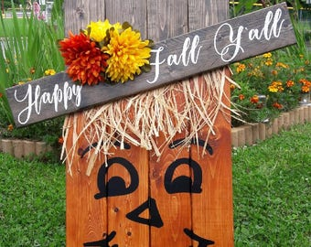 Arthur The Scarecrow Fall/Halloween Handpainted and Stained Wooden Sign