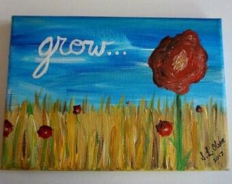 Grow Acrylic Painting