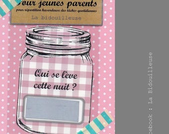 """Parents - 8 cards to scratch """"pink gingham"""""""