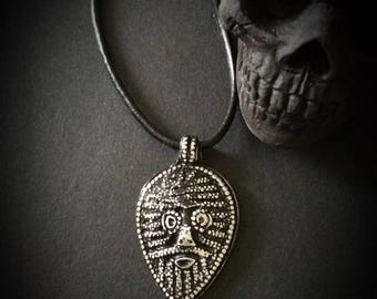 Warrior Pewter pendant on a adjustable leather string