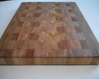 Siberian larch etsy kitchen cutting board made of siberian larch wood custom end grain cutting board butcher sciox Image collections