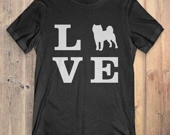Shiba Inu Dog T-Shirt Gift: I Love Shiba Inu