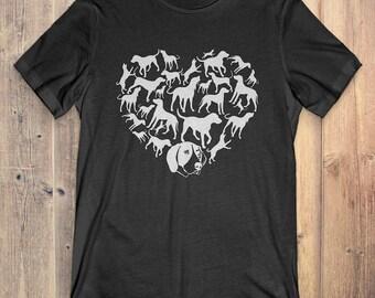 Treeing Walker Coonhound T-Shirt Gift: Heart Treeing Walker Coonhound