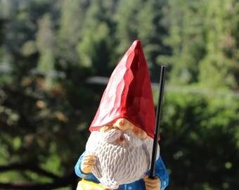 Custom Hand-Painted Gnome Statue