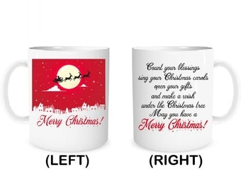 Merry Christmas Mug Coffee Mug Personalized gift mug Christmas gift mug X'mas mug Merry Christmas Coffee Mug Christmas Decor Santa Mug