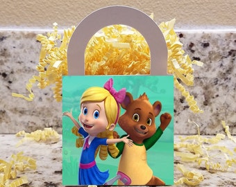 Goldie and Bear Treat Boxes, Goldie and Bear Popcorn Boxes, Goldie and Bear Candy Boxes, Goldie and Bear Party Boxes