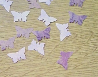 Hand punched butterfly confetti