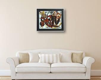 Erotic Art Art Acrylic Art Painting Acrylic Painting Abstract Painting Wall Art Original Painting Acrylic Canvas Abstract Acrylic Painting