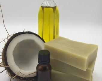 Tea Tree and Orange, Natural Soap, Handmade Soap, Natural Detoxifier, Gluten Free/Palm Free, Antibacterial, Facial Soap