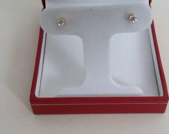 Genuine diamond post earrings