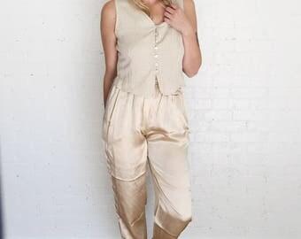 Vintage satin slacks