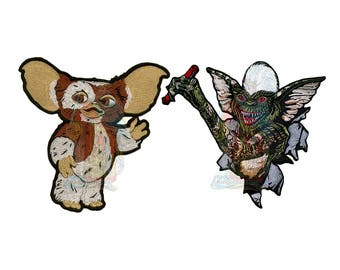 Gremlins Embroidered Big Patches Gizmo or Stripe Mogwai Characters 80's Movie