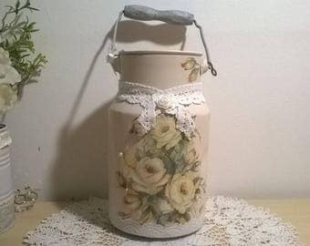 Vintage milk can the shabby chic decor