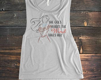 Where the Wind Goes - Tank Top or Tshirt - Adult Theme Park Shirt - Princess Shirt - Adult Princess Tank - Pocahontas Shirt