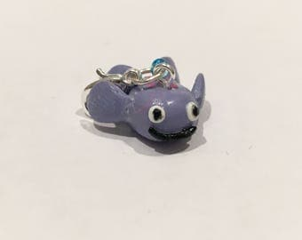 Purple Fish Polymer Clay Charm