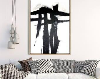 Large Wall Art, Abstract Art Print, Abstract Art, Monochrome Art Print, Home Decor, Wall Decor, Digital Download