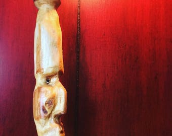 Eastern White Pine and Wild Cherry Wood Carving