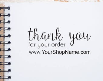Personalized Thank You Business Stamp, Small Business Stamp, Thank You Stamp with Website, Custom Shop Name